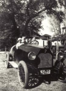Family in Auto, circa 1920