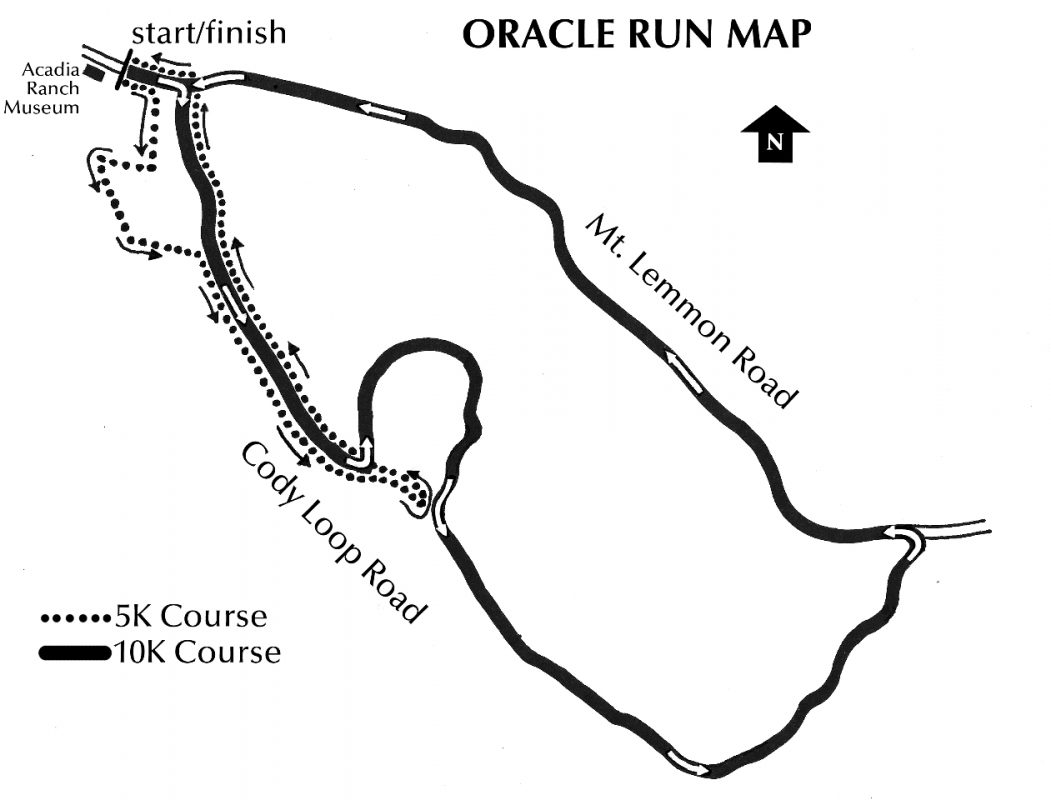 Oracle Run Map of 10K and 5K Courses