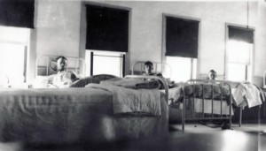 Patients in Beds in Acadia Dining Room